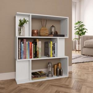 Bibliotecă/Separator cameră, alb, 80 x 24 x 96 cm, PAL