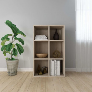 Bibliotecă/Servantă, stejar Sonoma, 50 x 25 x 80 cm, PAL