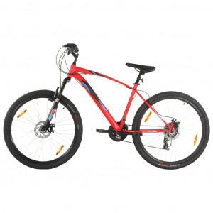 Bicicletă montană 21 viteze, roată 29 inci, cadru roșu, 48 cm
