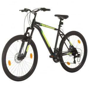 Bicicletă montană cu 21 viteze, roată 27,5 inci, negru, 50 cm