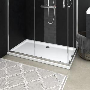 Cădiță de duș dreptunghiulară din ABS, alb, 70x120 cm