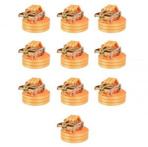 Chingi fixare cu clichet, 10 buc, 1 tonă, 6mx38 mm, portocaliu