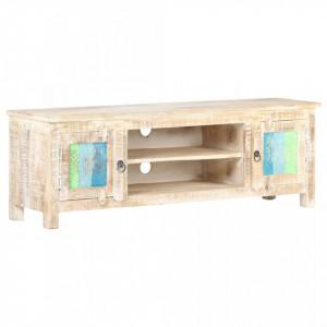Comodă TV, 120 x 30 x 40 cm, lemn de acacia nefinisat