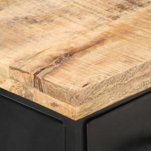 Comodă TV, 90 x 30 x 41 cm, lemn de mango nefinisat