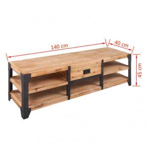 Comodă TV din lemn masiv de acacia 140 x 40 x 45 cm