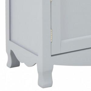 Comodă TV, gri, 120 x 30 x 40 cm, lemn