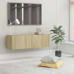 Comodă TV, stejar Sonoma, 100 x 30 x 30 cm, PAL