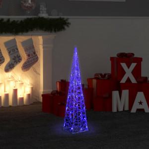 Con de lumină cu LED decorativ, albastru, 60 cm, acril, rotund