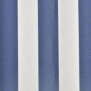 Copertină marchiză, 6 x 3 m, Albastru/ Alb (nu include scheletul)