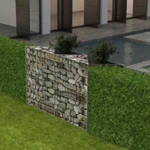 Coș gabion/jardinieră/strat legume, oțel, 120x30x100 cm
