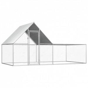 Coteț de găini, 4 x 2 x 2 m, oțel galvanizat