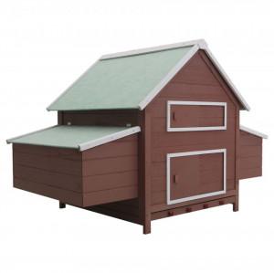 Coteț pentru păsări, maro, 157 x 97 x 110 cm, lemn