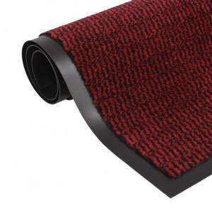Covor de ușă anti-praf, dreptunghiular, 40 x 60 cm, roșu