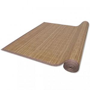 Covor dreptunghiular din bambus 80 x 200 cm, Maro
