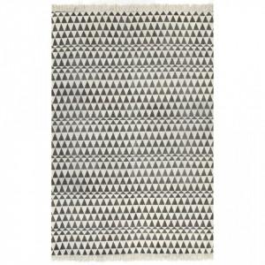 Covor Kilim, negru/alb, 160 x 230 cm, bumbac, cu model
