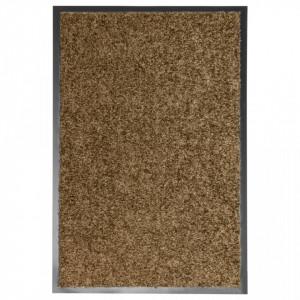 Covoraș de ușă lavabil, maro, 40 x 60 cm