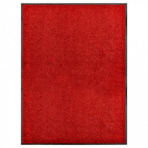 Covoraș de ușă lavabil, roșu, 90 x 120 cm