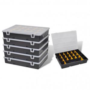 Cutii organizator pentru depozitare scule 6 bucăți
