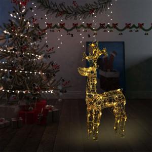 Decorațiune de Crăciun ren, 90 leduri, 60x16x100 cm, acril