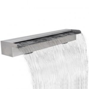Fântână cascadă dreptunghiulară de piscină din oțel inoxidabil 90 cm