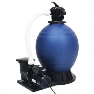 Filtru cu nisip supapă cu 7 căi pompă de 1000 W albastru/negru