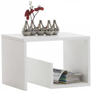 FMD Masă de cafea 2-în-1, 59,1 x 35,8 x 37,8 cm, alb