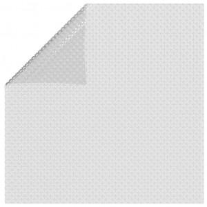 Folie solară plutitoare de piscină, gri, 732 x 366 cm, PE
