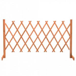 Gard cu zăbrele de grădină, portocaliu, 150x80 cm, lemn de brad