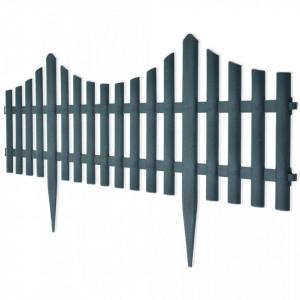 Gard despărțitor de peluză, 17 buc., verde, 10 m