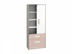 Iq 03 (Bibliotecă) Grey Platinum/White/Bright Pink