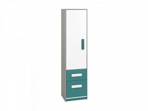 Iq 05 (Bibliotecă) Grey Platinum/White/Marine Blue