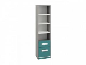 Iq 06 (Bibliotecă) Grey Platinum/White/Marine Blue