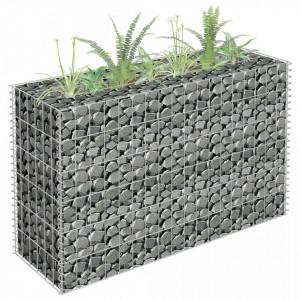 Jardinieră gabion, 90 x 30 x 60 cm, oțel galvanizat