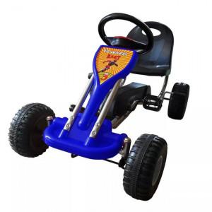 Kart cu pedale Go Kart, albastru