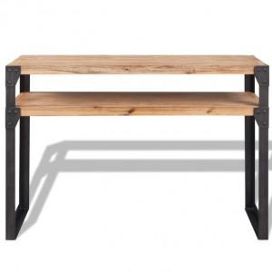 Masă consolă din lemn masiv de acacia 120 x 40 x 85 cm