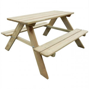 Masă de picnic pentru copii, 89 x 89,6 x 50,8 cm, lemn de pin