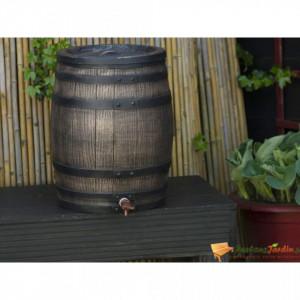 Nature Butoi de apă de ploaie cu aspect de lemn, maro, 38x49,5 cm, 50L