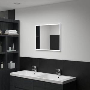 Oglindă cu LED de perete pentru baie, 60 x 50 cm
