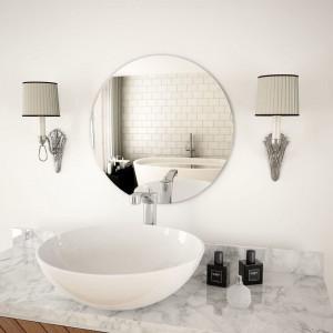 Oglindă de perete, 50 cm, sticlă, rotundă