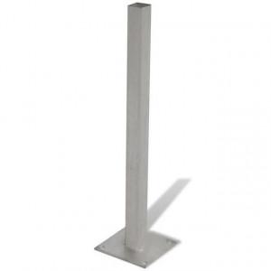 Panou de gard maro 105x(105-185) cm WPC înclinat