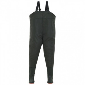Pantaloni de vânătoare cu cizme, verde, mărime 41