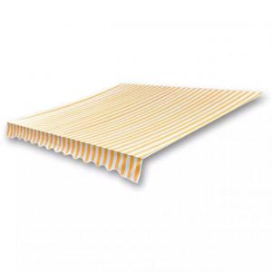 Pânză copertină galben & alb 4 x 3 m (cadrul nu este inclus)