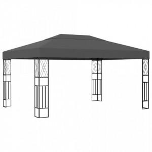 Pavilion, antracit, 3 x 4 m, material textil