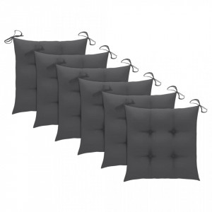 Perne de scaun, 6 buc., antracit, 40 x 40 x 7 cm, textil