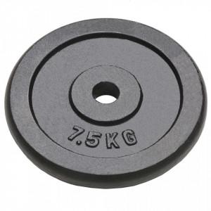 Plăci de greutate, 4 buc., 4x7,5 kg, fontă