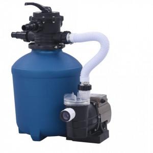 Pompă filtru cu nisip, cu temporizator, 530 W, 10980 L/h
