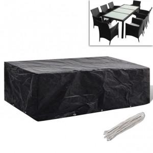 Prelată mobilier exterior din poliratan cu 10 inele 300 x 140cm