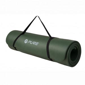 Pure2Improve Saltea de yoga, verde kaki, NBR
