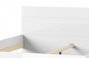 Selene 33 (rama de pat 160) white high gloss/white