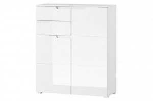 Selene 7 comoda white high gloss/white